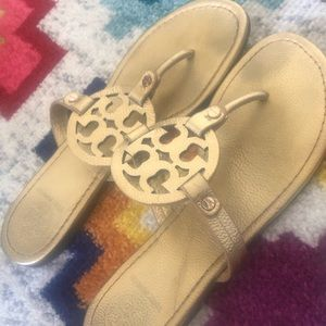 Size 10 Tory Burch Miller gold sandals